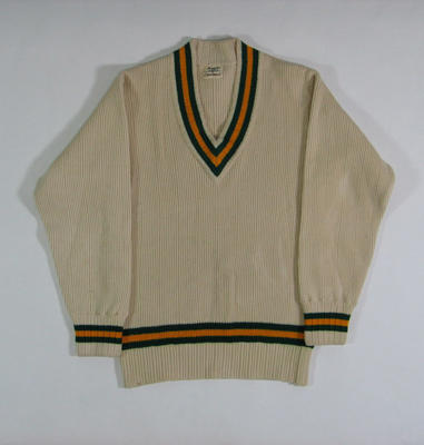 Long sleeved Australian Test jumper, worn by Clarrie Grimmett