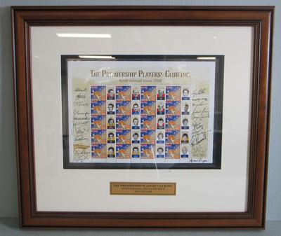 Framed AFL Premiership Players' Club commemorative Australia Post stamps, 2008
