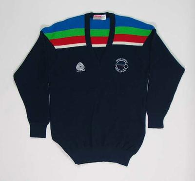Jumper in India team colours, 1992 Benson & Hedges World Cup