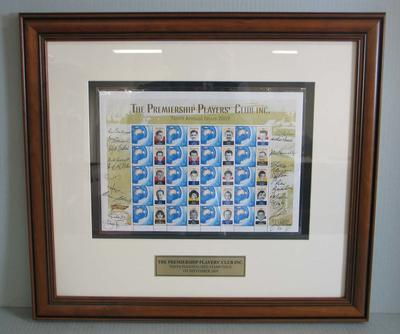 Framed AFL Premiership Players' Club commemorative Australia Post stamps, 2009