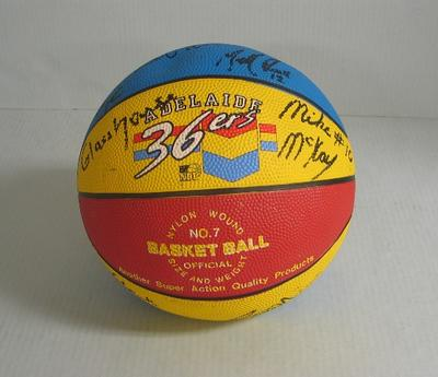 Autographed Adelaide 36ers-branded basketball; Sporting equipment; N2011.17.1