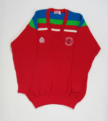 Jumper in Zimbabwe team colours, 1992 Benson & Hedges World Cup