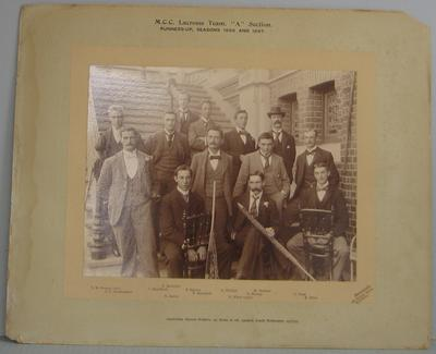Photograph of MCC Lacrosse Team, A Section, 1896 & 1897