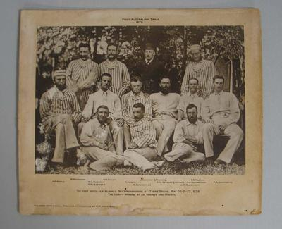 1933 print of photograph of the 1878 Australian Cricket team