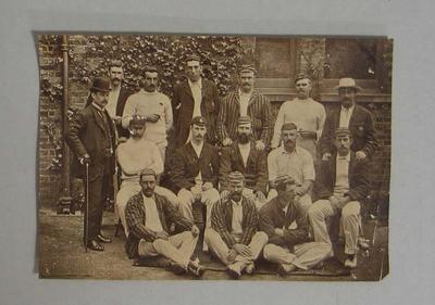 Original photograph of the 1893 Australian cricket team to England