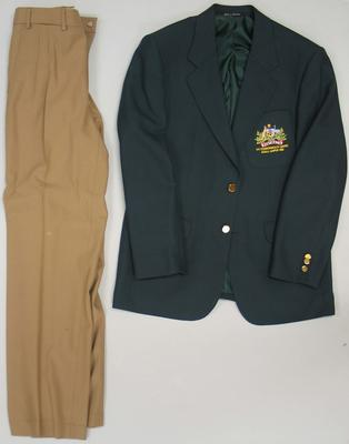 Blazer and pants, Australian team uniform, 1998 Kuala Lumpur Commonwealth Games