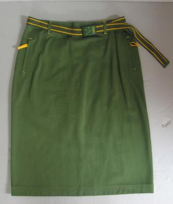 Skirt and belt, Australian team Opening Ceremony uniform, 2000 Sydney Olympics