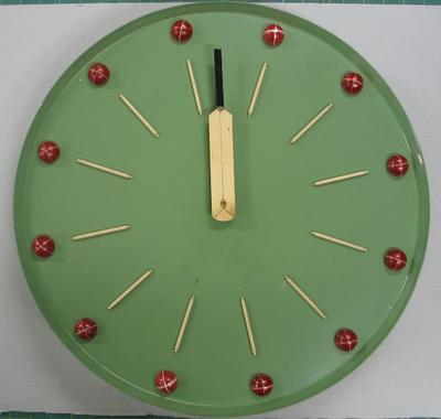 VCA Championship Clock, presented to the Melbourne Cricket Club by the Victorian Cricket Association, 1956-57