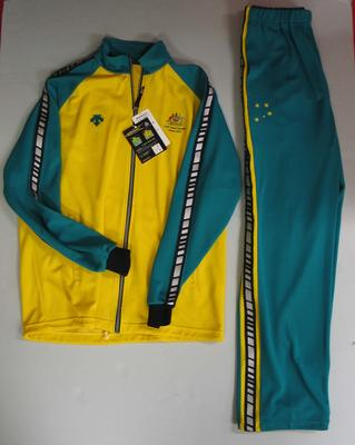 Tracksuit jacket and pants, Australian team uniform, 2001 East Asian Games, Osaka