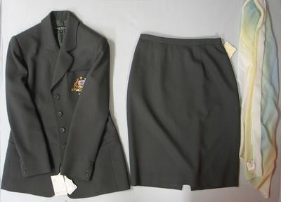 Blazer, scarf, and skirt, official Australian Netball team uniform
