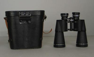 Binoculars in case, used by Ron Casey; Personal effects; N2011.58.4