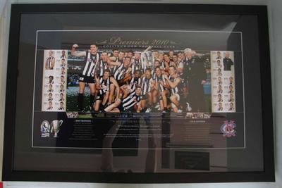 Framed print commemorating Collingwood's 2010 AFL Season