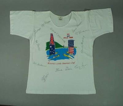 Autographed T-shirt - Victoria's Little America's Cup McCrae 1989