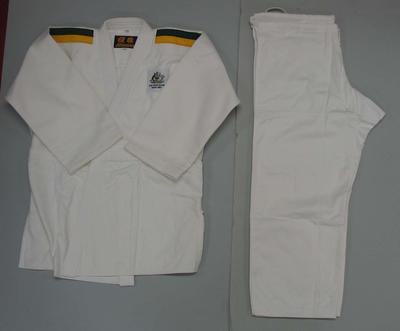 White judo gi, Australian team uniform, 2001 East Asian Games, Osaka