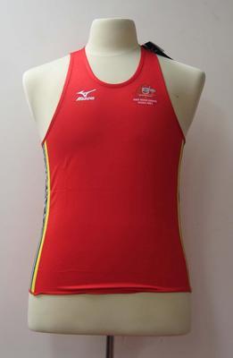 Singlet, Australian team uniform, 2001 East Asian Games, Osaka