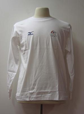 Long sleeved shirt, Australian team uniform, 2001 East Asian Games, Osaka