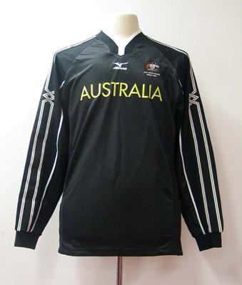 Goalkeeper's jumper, Australian team uniform, 2001 East Asian Games, Osaka