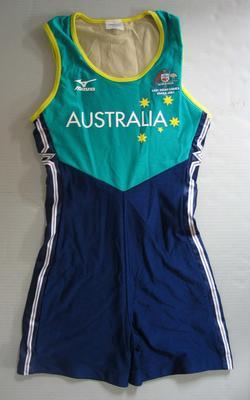 Bodysuit, Australian team uniform, 2001 East Asian Games, Osaka