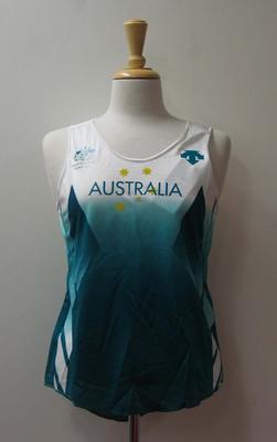 Ladies singlet, Australian team uniform, 2001 East Asian Games, Osaka