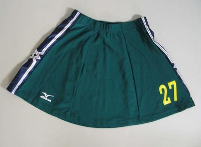Hockey skirt, Australian team uniform, 2001 East Asian Games, Osaka