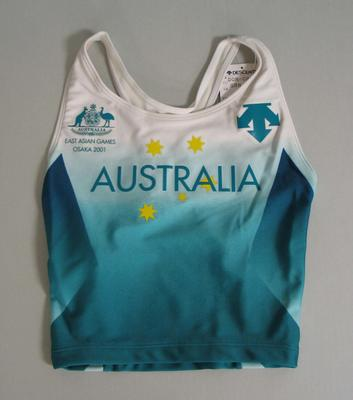 Crop top, Australian team uniform, 2001 East Asian Games, Osaka
