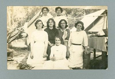 Postcard, image of unknown young women