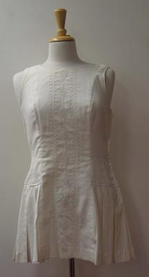 Tinling tennis dress with lacework worn by Judy Dalton