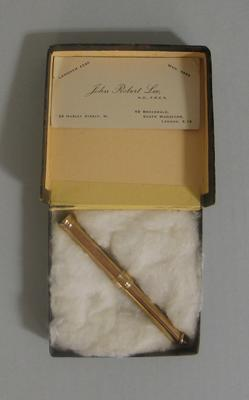 Gold pencil holder presented to Ron Hamence, 1948