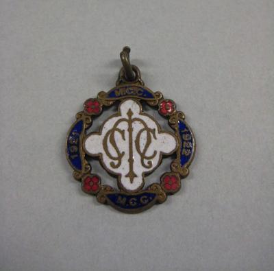 Melbourne Cricket Club Medallion, 1921/22
