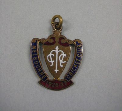 Melbourne Cricket Club Medallion, 1926/27