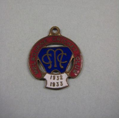 Melbourne Cricket Club Medallion, 1932/33