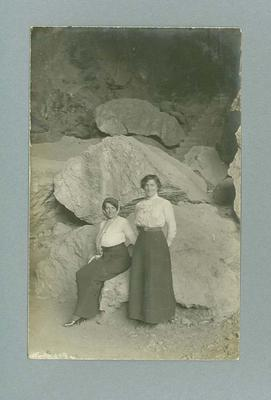 Postcard, image of two unknown women