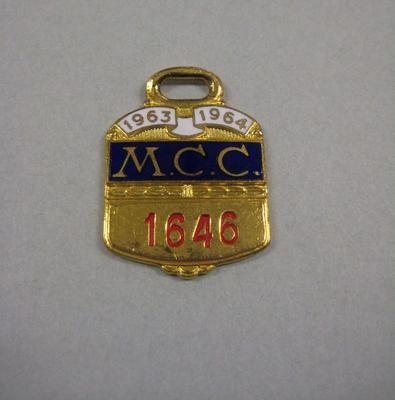 Melbourne Cricket Club Medallion, 1963/64