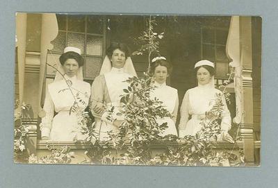 Postcard, image of four unknown nurses