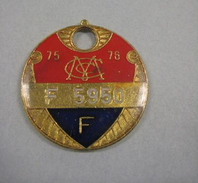 Melbourne Cricket Club Medallion, 1975/76; Trophies and awards; M15797.87