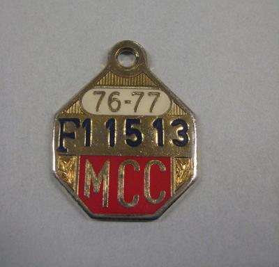 Melbourne Cricket Club Medallion, 1976/77; Trophies and awards; M15797.89