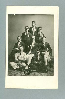 Postcard, image of unknown group of men