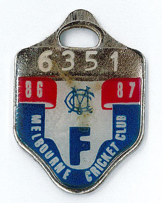 Melbourne Cricket Club Medallion, 1986/87