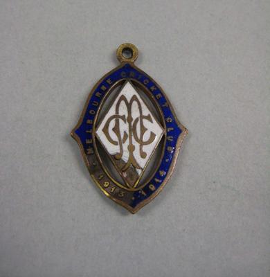Melbourne Cricket Club membership medallion, season 1913/14; Trophies and awards; M10544.7