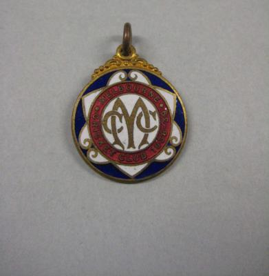 Melbourne Cricket Club membership medallion, season 1938/39; Trophies and awards; M10544.19