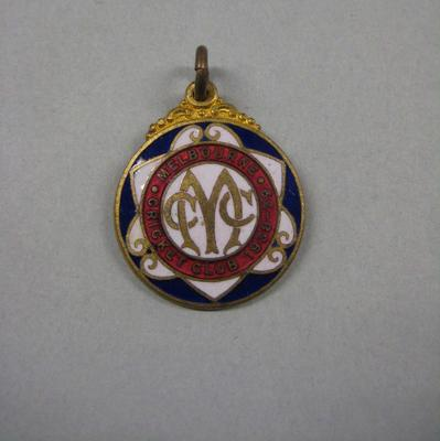 Melbourne Cricket Club membership medallion, season 1938/39; Trophies and awards; M10544.20