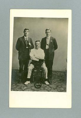 Postcard, image of three unknown men