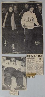 Article regarding Tony Rafferty's Marathon Walk, 17 July 1971