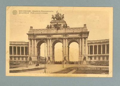 Postcard from Belgium, 1 Sept 1920