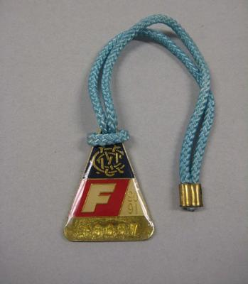 Melbourne Cricket Club membership medallion, season 1990/91