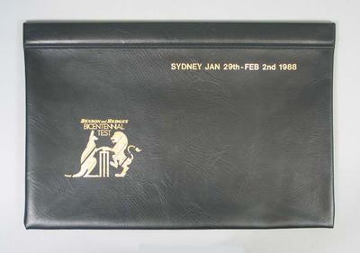 Souvenir document satchel, 1988 Bicentennial Test