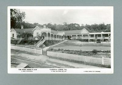 """Picture of """"Carinya"""", Beaurepaire family home at Lorne"""