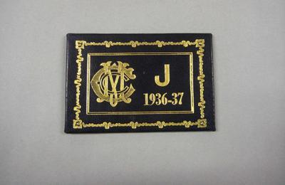 Melbourne Cricket Club Membership Ticket, 1936/37
