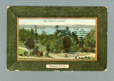 Postcard, image of Botanical Gardens - Sydney, NSW