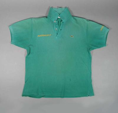 Polo shirt worn by Will Baillieu on Australia II, America's Cup, 1983